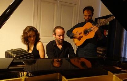 con Leandro Avalle y Gaspar Müller
