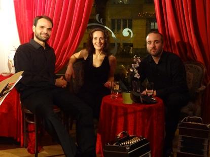 con Leandro Avalle y Gaspar Müller en Zürich