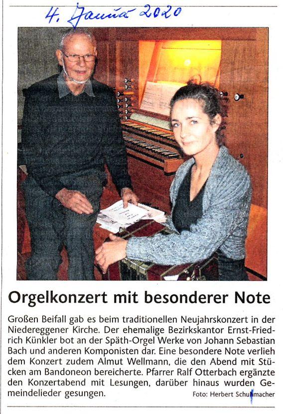 Orgel + Bandoneon-Konzert